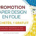 Promotion papiers design