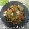 Salade quinoa & tomate & concombre
