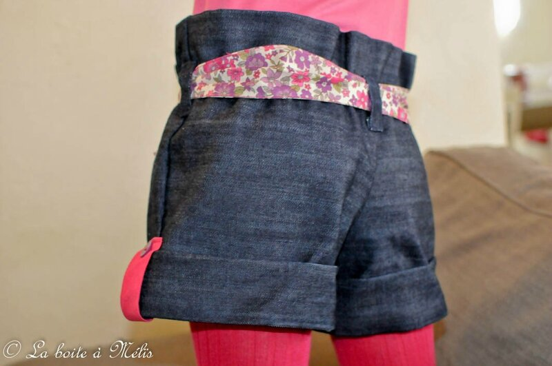 ensemble short jean Mélie zoom short dos