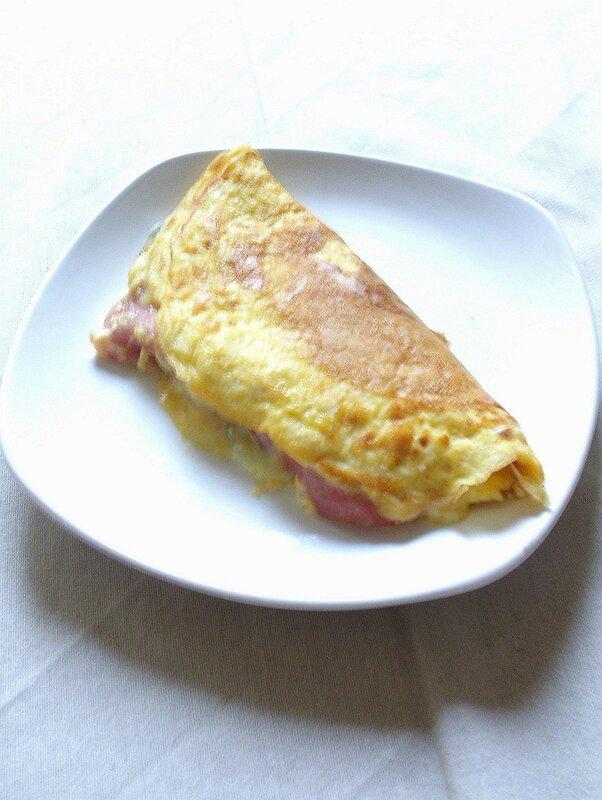 omelette au bleu et au bacon (2)