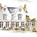 Portrait de maison à l'aquarelle