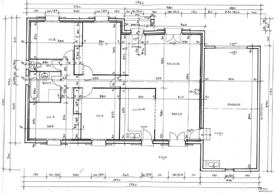 Plan maison interieur plain pied for Plan interieur maison