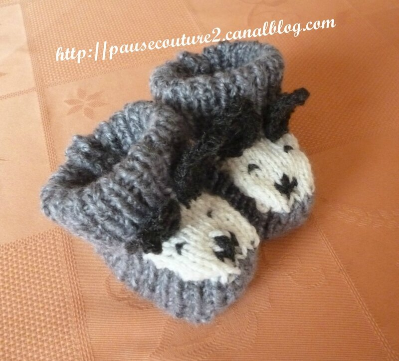 chaussons chien gris (3)b