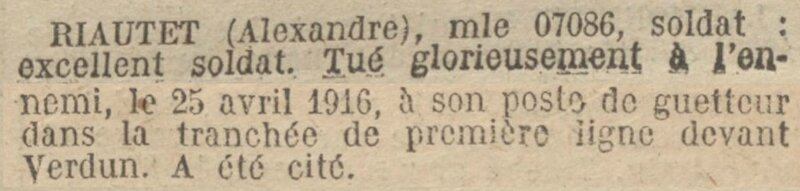RIAUTET Alexandre citation
