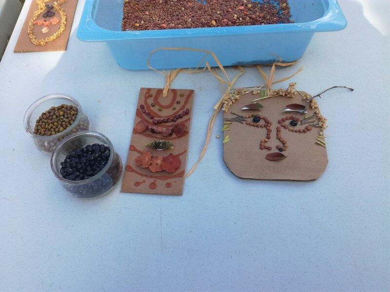 tableaux avec de graines