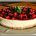 Cheese cake à la vanille et aux fruits rouges