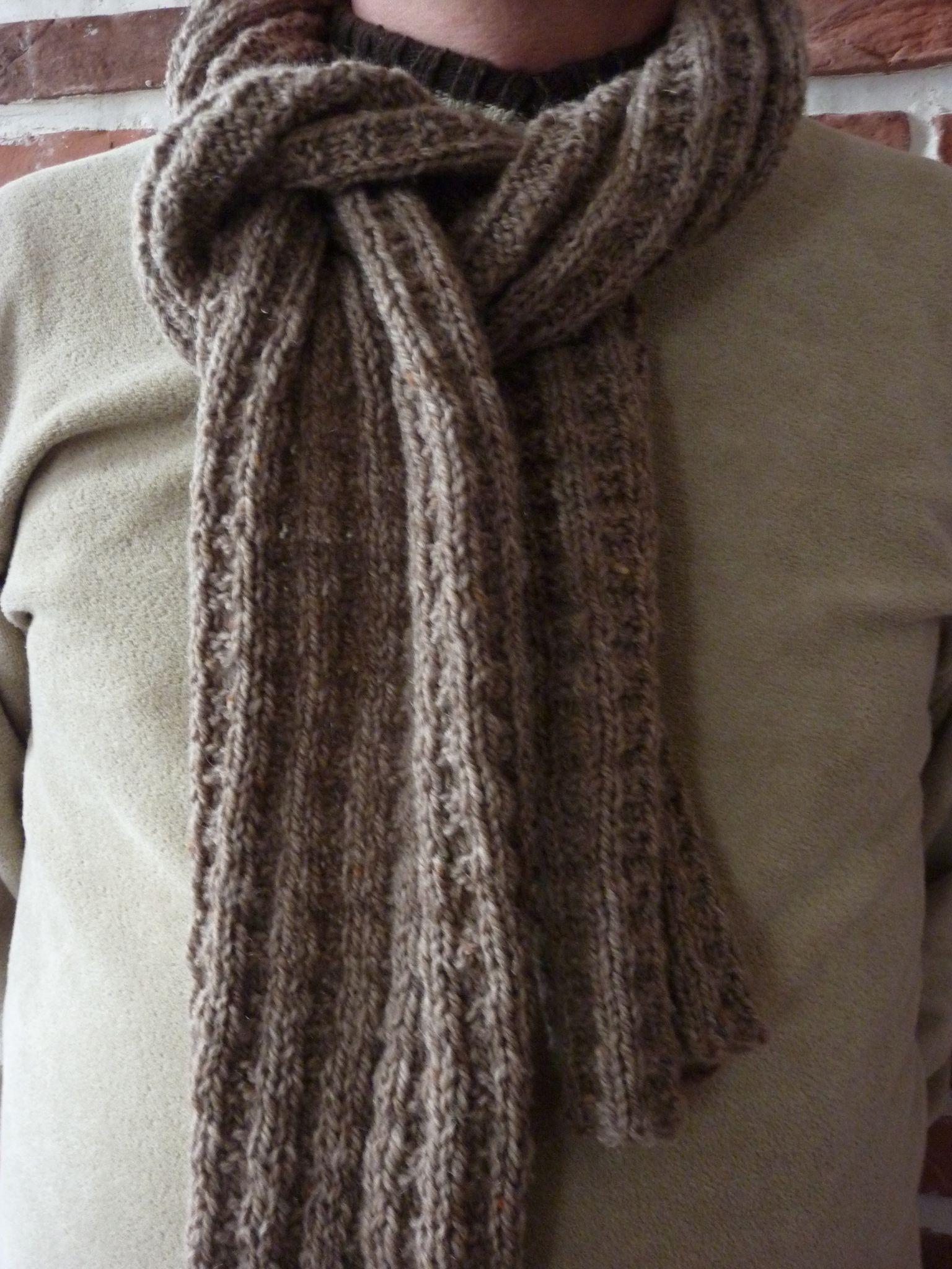 Modele a tricoter echarpe homme - Tricoter une echarpe homme ...