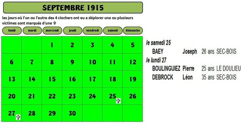 calendrier + noms
