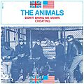 RARE 45 tours des ANIMALS avec sur la photo de la pochette Dave Rowberry (qui remplace l'organiste Alan Price) et Barry Jenkins (qui remplace John Steel à la batterie)