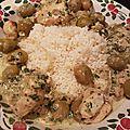 Poulet aux épices et olives