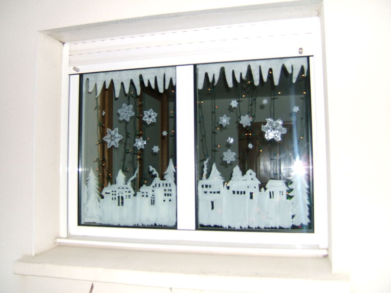 Decoration fenetre noel peinture for Deco fenetre noel