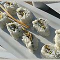 Les sushis du chef hisayuki takeuchi au sbc4
