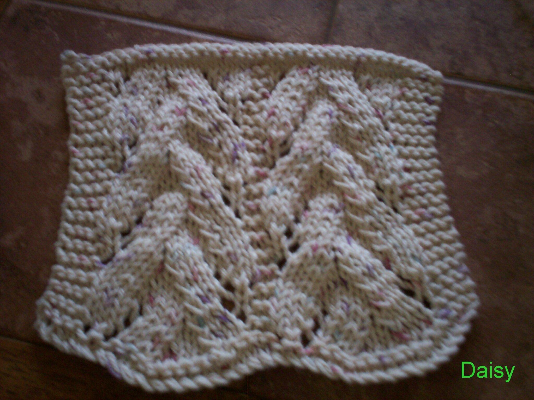 patron tricot serviette a main