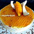 Gâteau d'anniversaire mangue coco