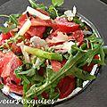 Salade de tomate et asperges