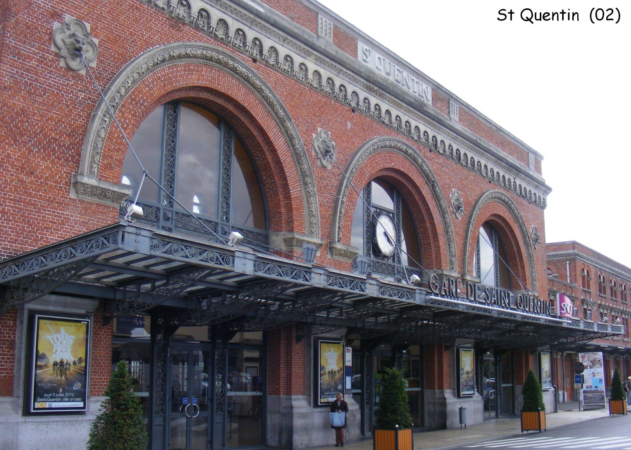 la gare de saint quentin 02 les gares de france et leurs infrastructures ferroviaires. Black Bedroom Furniture Sets. Home Design Ideas