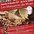 10 décembre 2017 : marche pour les victimes du mans