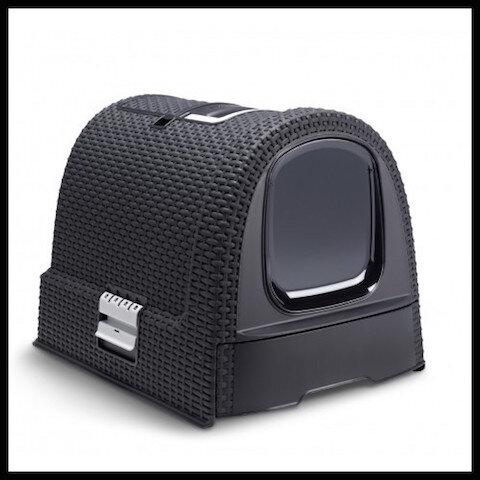 la compagnie des animaux curver maison toilette petlife litter box anthracite 1