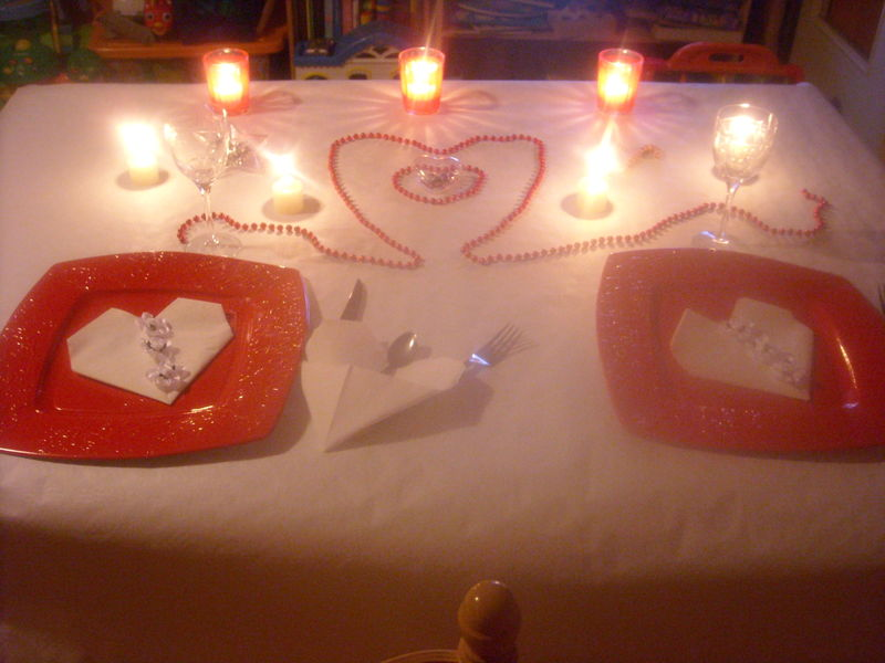 D coration de table pour la st valentin toutes mes for Deco table st valentin