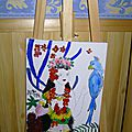 PAINTINGS ON EASEL