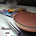 Mousse aux 2 chocolats