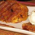 Ananas rôti à la vanille et sa glace aux calissons d'aix-en-provence