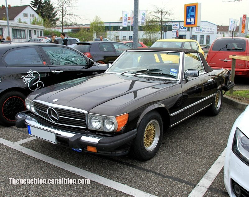 Mercedes 380 SL (US version)(Rencard Burger King avril 2014) 01