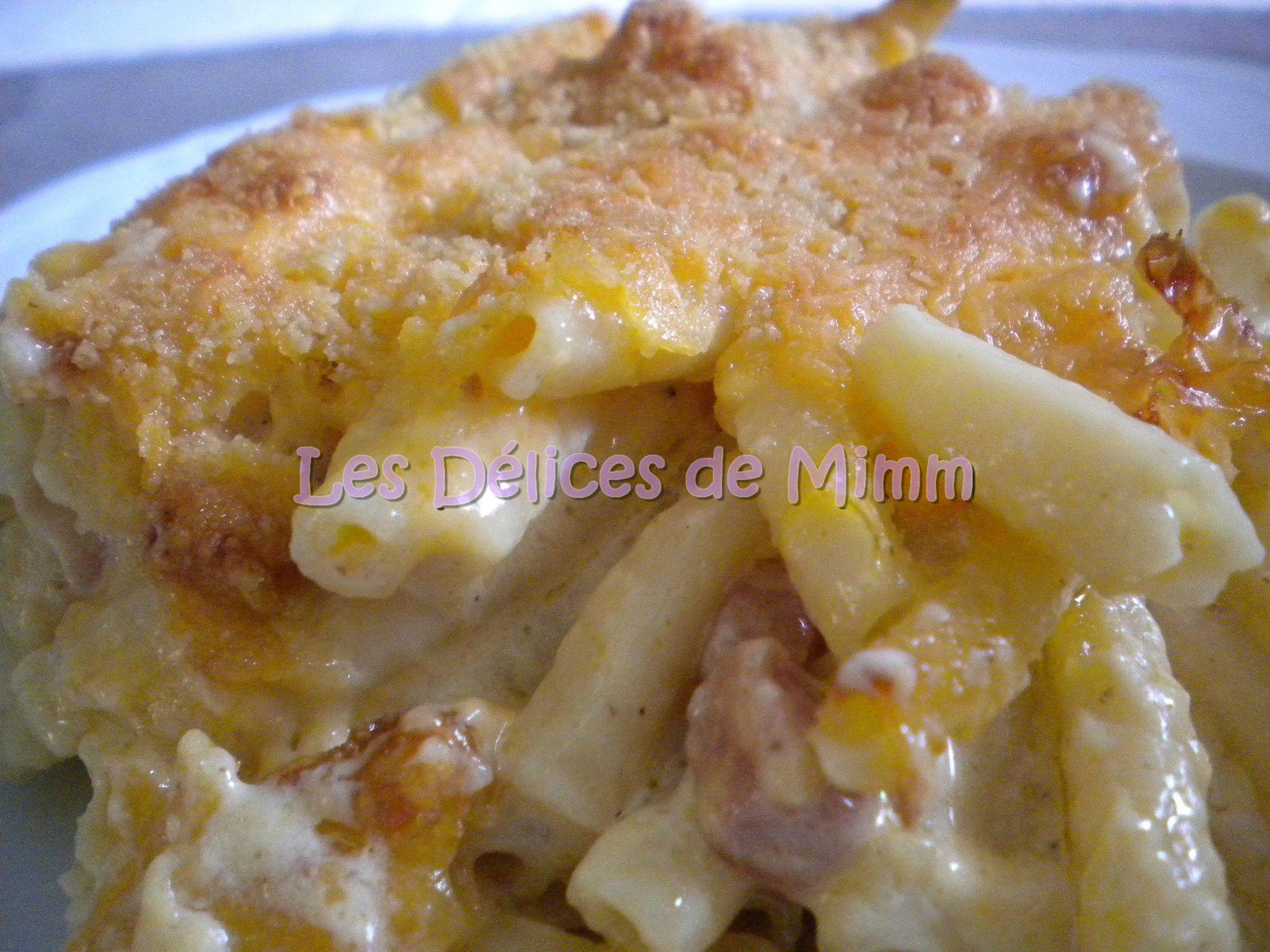gratin de macaronis aux lardons les d 233 lices de mimm
