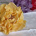 Fleurs en soie, en tissus