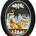 Circle of alessandro masnago (fl. 1575-1612), italian, milan, circa 1575, cameo with the adoration of the magi and david on the