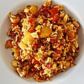 Pineapple fried rice with cashews - riz frit ananas frais et noix de cajou