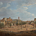 Giovanni Paolo Panini (Plaisance, 1691 - Rome, 1765), Vue du Forum romain
