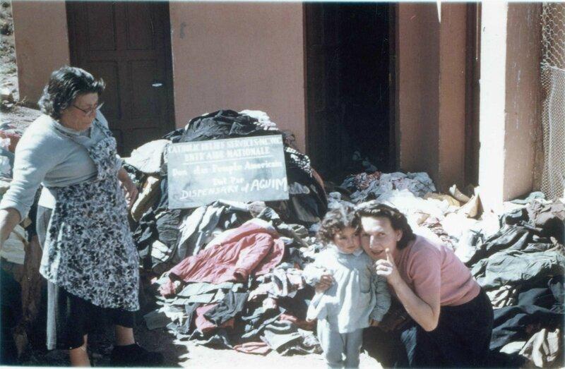 dispensaire d'Agouim 1962 Mémé Drouin et Mme Badie