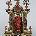 Johann heinrich köhler (-1736), small jewelry altar with st. joseph