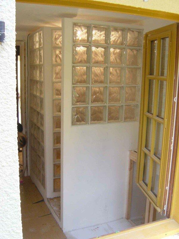 Les joints des briques de verre all e des ajoncs for Fenetre carreaux de verre