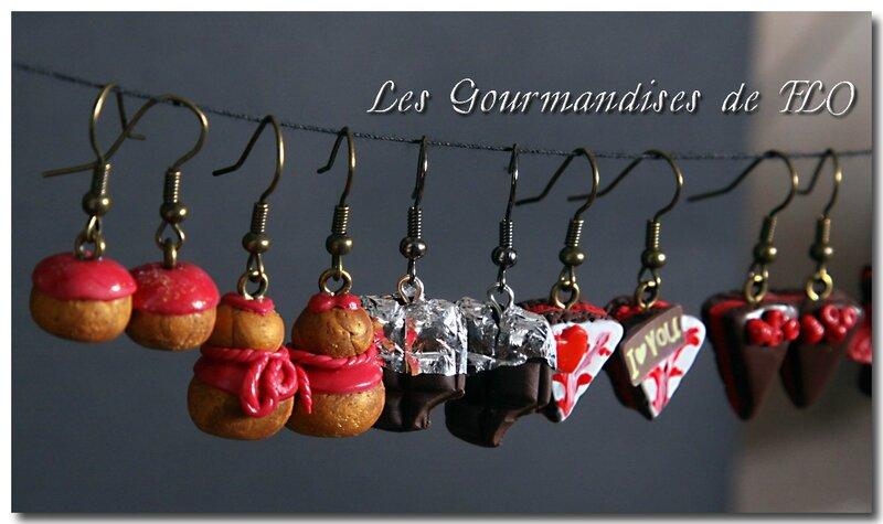 Boucles d'oreilles (collection La Gourmandise est un joli défaut)