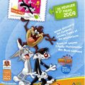 Avranches accueille bugs bunny et tous ses amis à l'occasion de la fête du timbre 2009