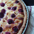 Tarte pches framboises