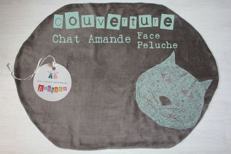 Chat Amande face peluche