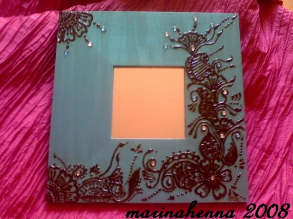 tableau turquoise deco 39 henna. Black Bedroom Furniture Sets. Home Design Ideas