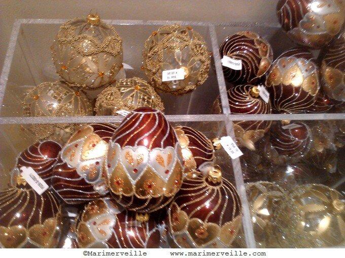 boules très décorées au bon marché - marimerveille