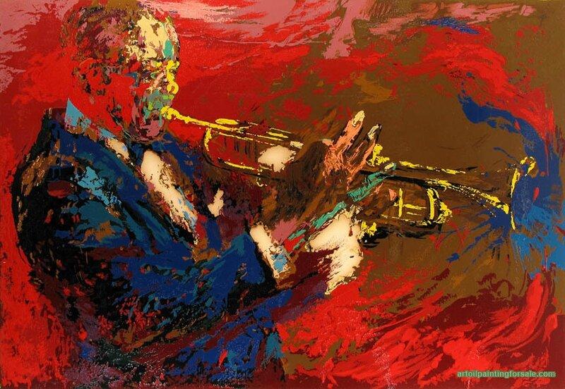 Leroy Neiman Satchmo Painting