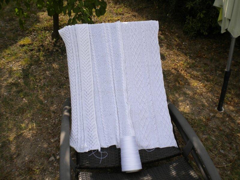Plaid coton blanc