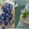 Dessert meringué aux bleuets, sans gluten et sans lactose