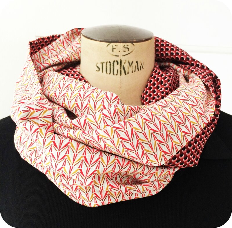 Snood été vintage graphic 4