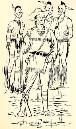 encyclopedie_par_le_timbre_dexu_coqs_d_or_daniel_boone_cow_boy_indien_coloriage