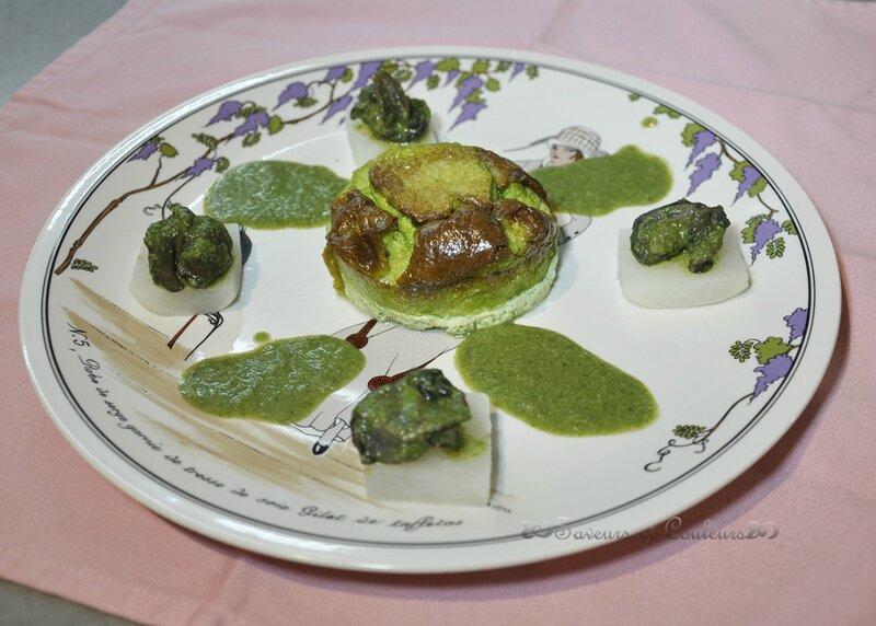 Escargots, purée persil