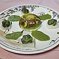 Flans d'escargots à la crème de persil ***