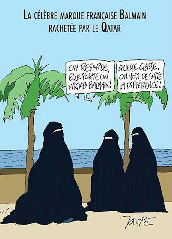 islam humour burka balmain arabie saoudite muslim idiot