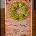 couronne origami + fond technique résist